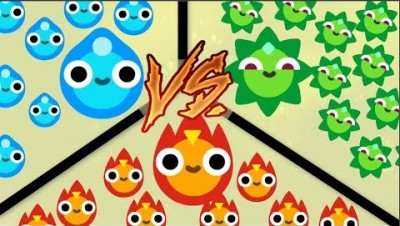Tribs.io // WAR OF ELEMENTS // Fire VS Water VS Plants //