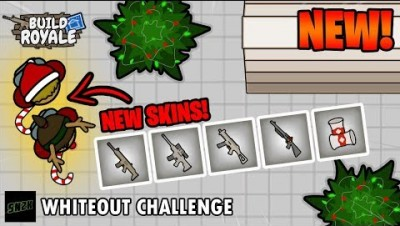 Whiteout Challenge! NEW Holiday Map and Skins || BuildRoyale.io