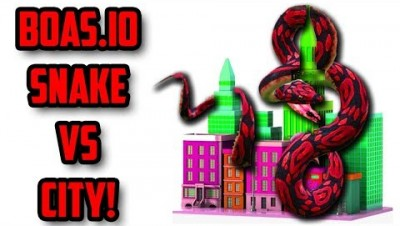 WORLDS LARGEST SNAKE VS CITY!! Boas.io Epic Elimination Mode Gameplay (slither.io)