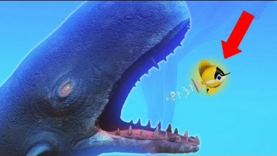WORLD'S SMALLEST FISH vs NEW GIANT WHALE! (Small Fish CHALLENGE) (Feed and Grow Fish New Update)