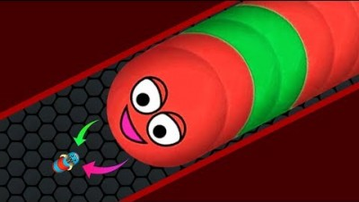 Wormate.io 1 Giant Monster Worm vs. Tiny Invasion Worms Epic Wormateio Best Trolling Gameplay!