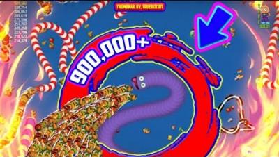 Wormszone.io | 900,000+ Score | Amazing Top 01 Worms Zoneio Gameplay [Funny Moments] IO GAMES 2020