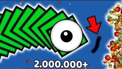 WormsZone.io Biggest Pro Slither Snake 2.000.000+ Score Top 01 World Record Worms Zone io Gameplay