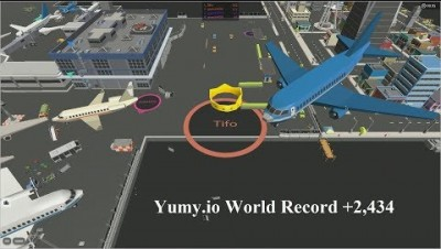 Yumy.io (Hole.io) World Record +2,434