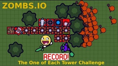 ZOMBS.IO IMPOSSIBLE BASE ! WORLD RECORD ! ThE OnE OF EacH ToweR ChallengE ZOMBS.IO LeeZY CookieGuy