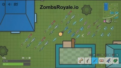 ZombsRoyale.io All Weapons (New .io Game)
