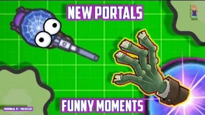 ZOMBSROYALE.IO UPDATE!: EPIC PORTALS OP META [FUNNY MOMENTS & DANK MEMES] NEW BATTLE ROYALE IO GAME!